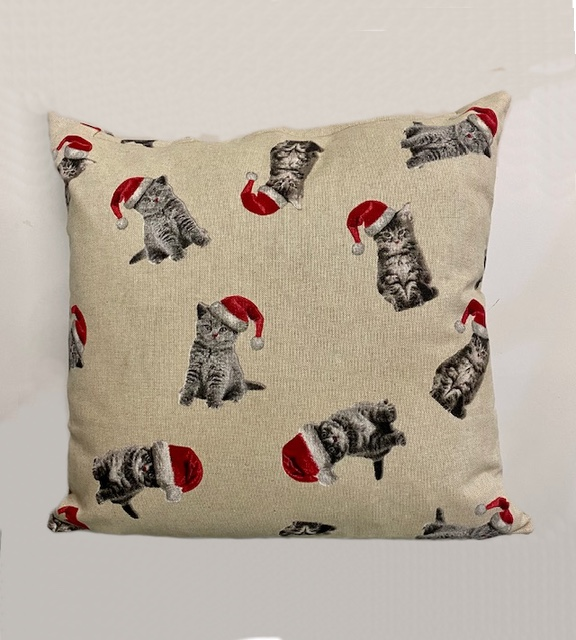Cats Christmas Cushion